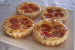 Leek & Tomato mini quiche