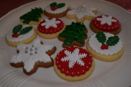 xmas cookies selection